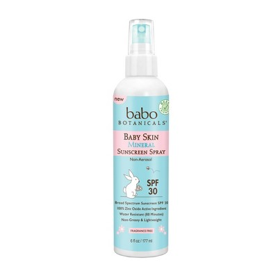 Babo Botanicals Baby Skin Mineral Non-Aerosol Sunscreen Pump Spray SPF 30 - 6 fl oz