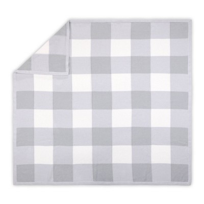 Farmhouse Check Blanket by The Peanutshell Gray