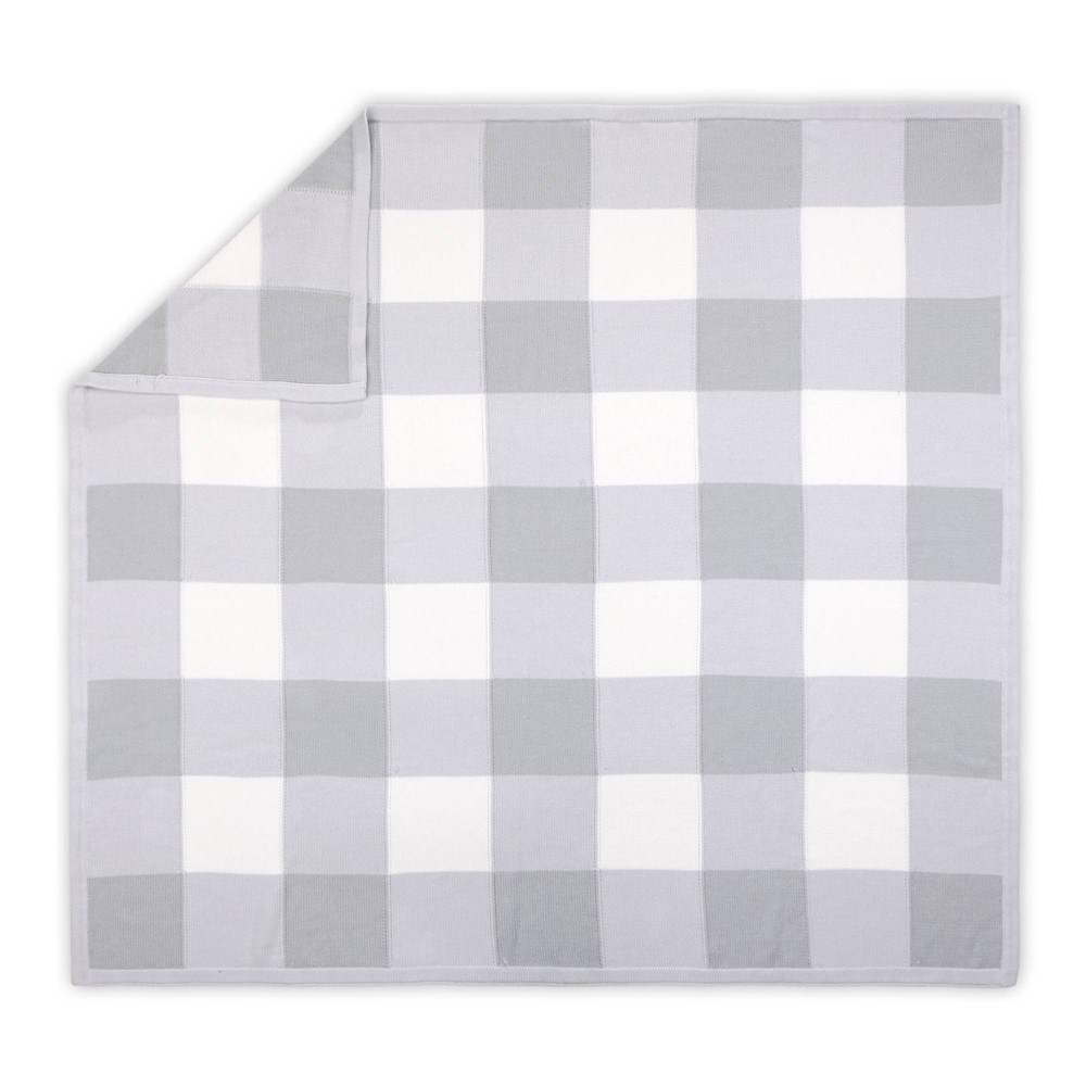 Image of Farmhouse Check Blanket by The Peanutshell Gray