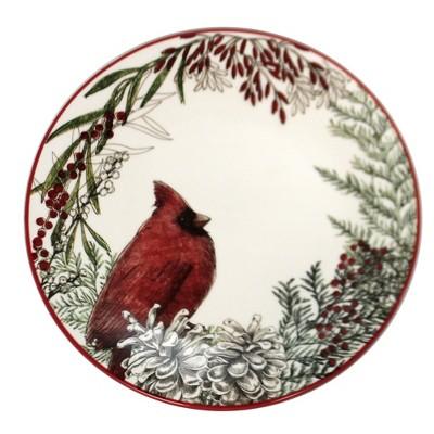 "Tabletop 8.75"" Cardinal Salad Plate Christmas Red Bird Park Designs  -  Dining Plates"