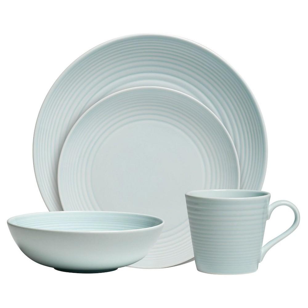 Gordon Ramsay by Royal Doulton Maze 4pc Dinnerware Set Blue