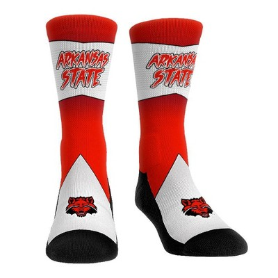 NCAA Arkansas State Red Wolves Adult Battle Call Crew Socks - L/XL
