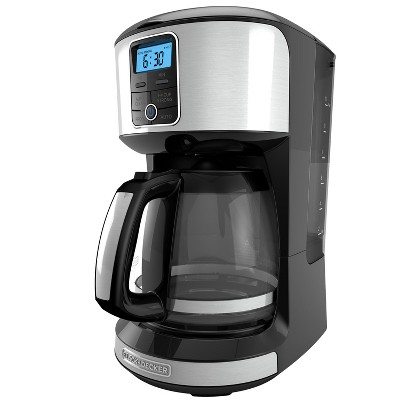 BLACK+DECKER 12 Cup Automatic Programmable Coffee Maker - Black/Stainless Steel CM4100S