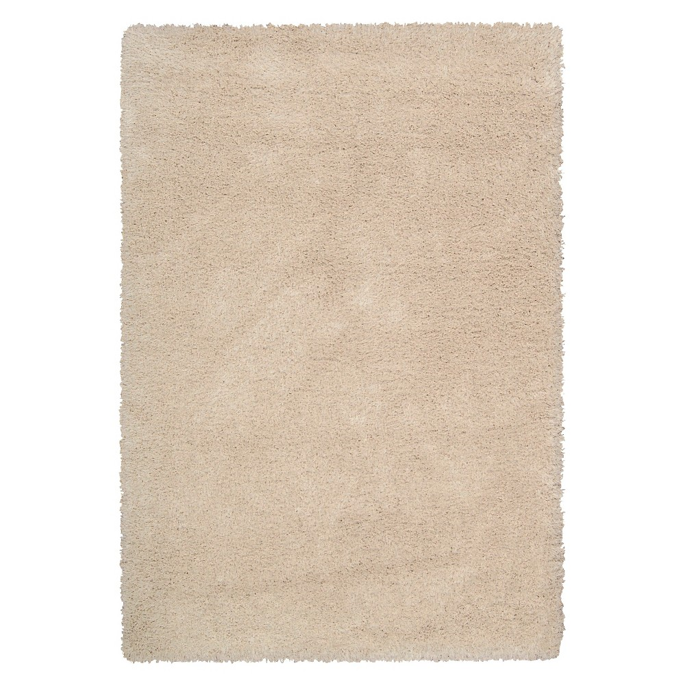 Nourison Solid Escape Shag Accent Rug - Bone (Ivory) (3'11