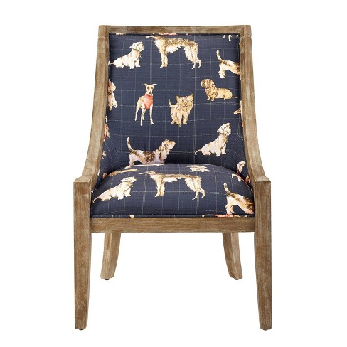 Rhett Accent Chair with Dog Pattern - Linon - image 1 of 4
