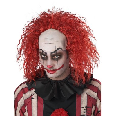 California Costumes Clown Pattern Baldness Bald Cap Adult Wig (Red)