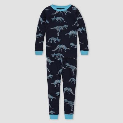 Burt's Bees Baby® Boys' 2pc Dino Organic Cotton Pajama Set - Light Blue