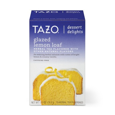 Tazo Glazed Lemon Loaf Dessert Delights Tea Bags - 15ct