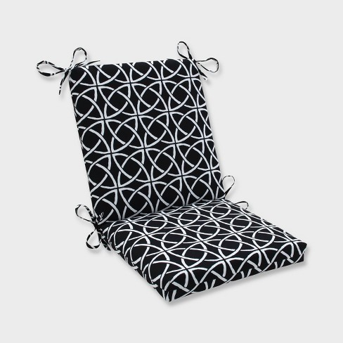 Catamaran Tile Squared Corners Outdoor Chair Cushion Black - Pillow Perfect - image 1 of 1