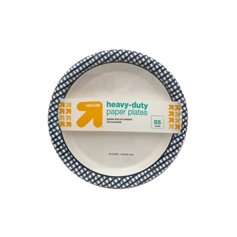 """Heavy Duty Disposable Paper Plates - 10"""" - 55ct - Up&Up™ - image 1 of 4"""