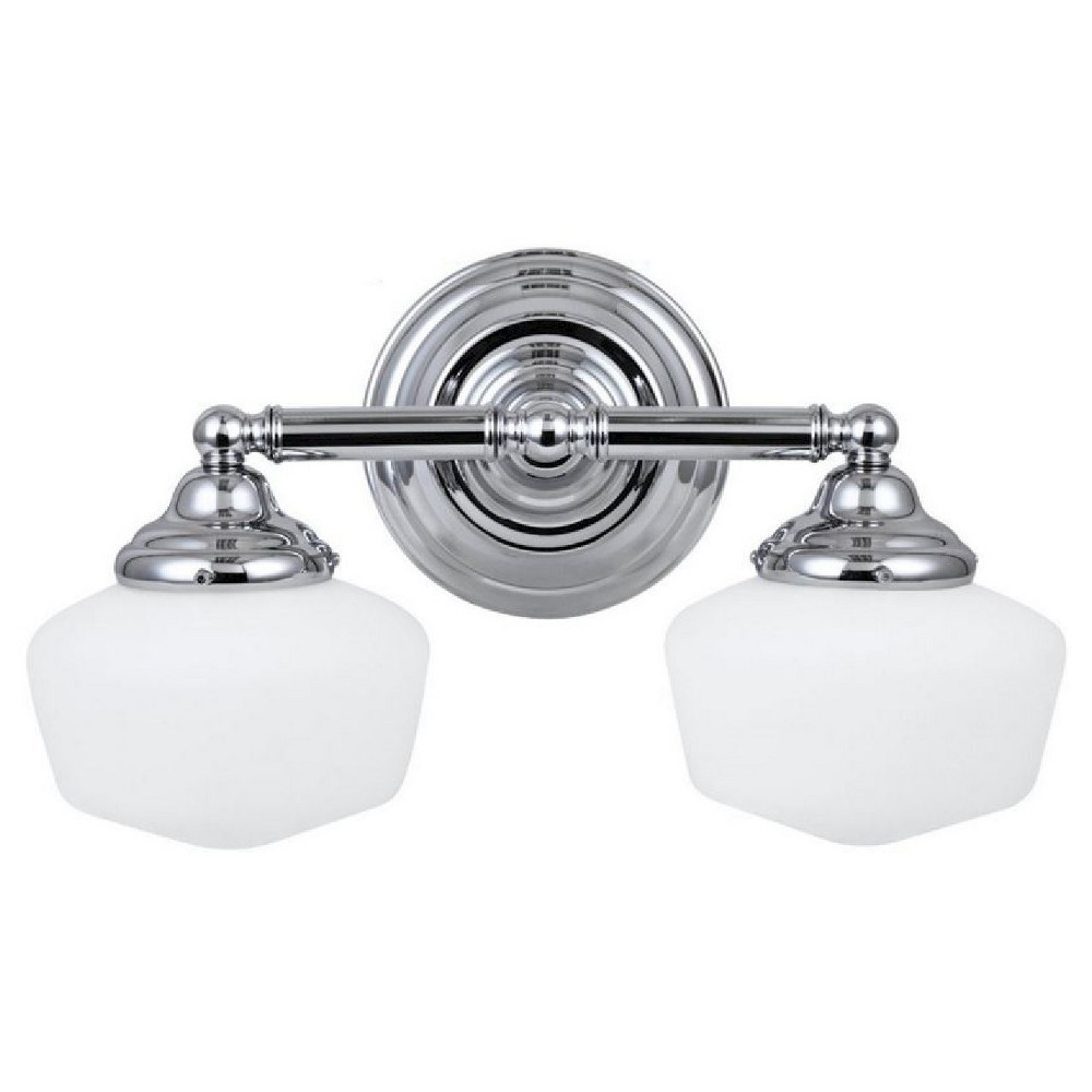 Image of Sea Gull Lighting Academy Two Light Bath Sconce - Chrome