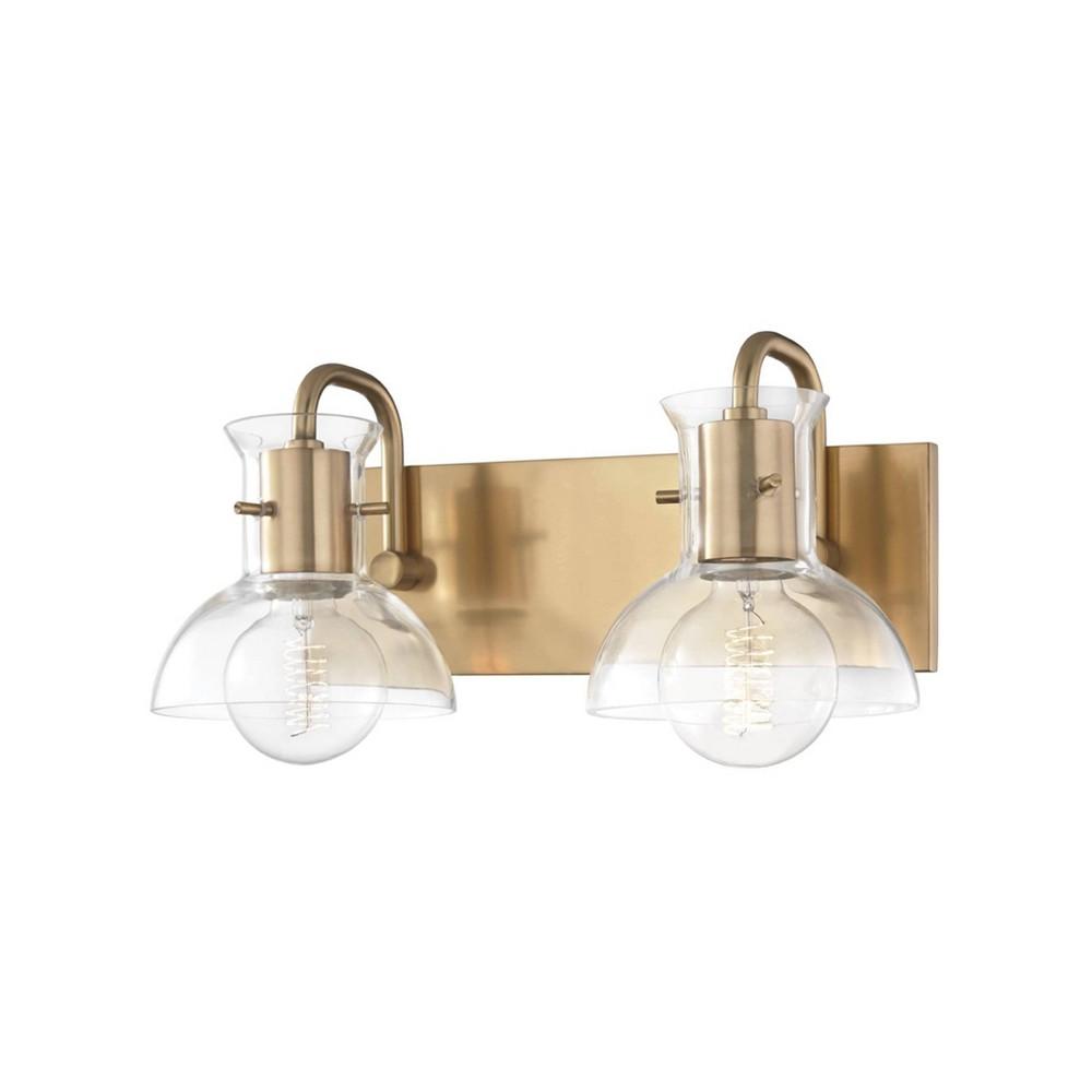 Riley 2-Light Vanity Light Aged Brass - Mitzi by Hudson Valley Cheap