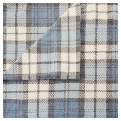 Microfleece Sheet Set (Queen)Blue Plaid