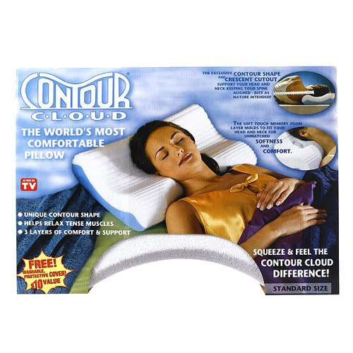 Contour Cloud Pillow with Cover - Standard