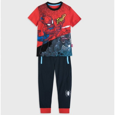 Boys' Spider-Man 2pc Top & Bottom Set - Red/Blue/Black - Disney Store