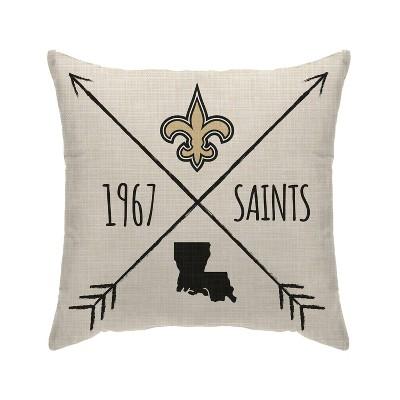 NFL New Orleans Saints Cross Arrow Decorative Throw Pillow