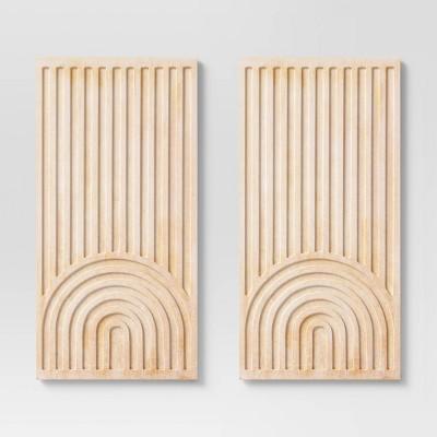 (Set of 2) Geometric Wall Panels - Threshold™