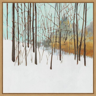 """16"""" x 16"""" Winters Day I Trees by Susan Wilde Framed Canvas Wall Art - Amanti Art"""