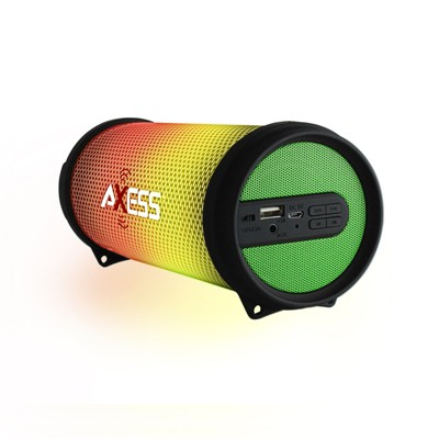Axess HIFI Bluetooth Media Speaker with Colorful RGB Lights in Green