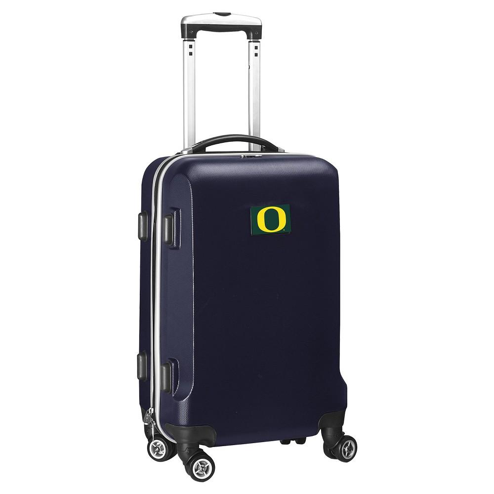 NCAA Oregon Ducks Navy Hardcase Spinner Carry On Suitcase