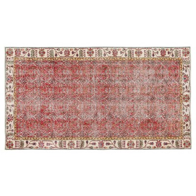 "4'5""x8'2"" Vintage One-of-a-Kind Gaylon Rug Red - Revival Rugs"