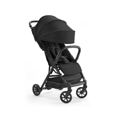 Inglesina AG87M0ONBUS/D Quid Lightweight Foldable Compact Stroller with 5-Point Harness and 50 Plus UPF Shade, For 3 Months to 50 pounds, Onyx Black