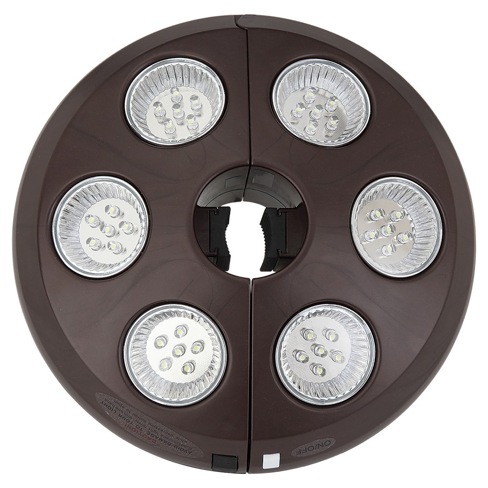 Image of Island Umbrella 6 Light Rechargeable LED Umbrella Light