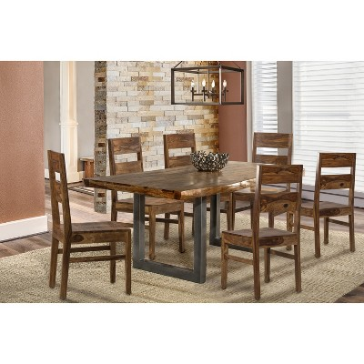 7pc Emerson Rectangle Dining Set Natural - Hillsdale Furniture