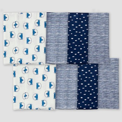 Gerber Baby Boys' 8pk Fox Burpcloth - Blue/White