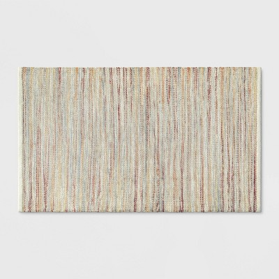 """2'6""""X4' Woven Accent Rug Natural - Threshold™"""