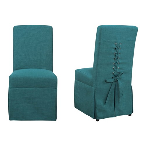 Hayden Dining Room Parsons Chair Teal, Skirted Parsons Chairs Dining Room Furniture