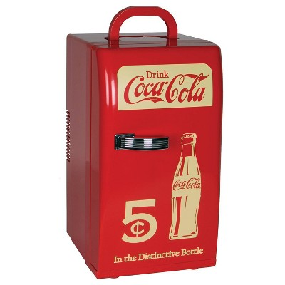 Coca-Cola 18-Can AC/DC Retro Electric Cooler - Red