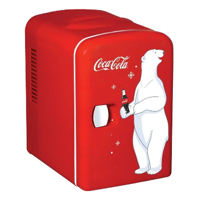 Coca-Cola 0.14 cu ft Personal Refrigerator - Red