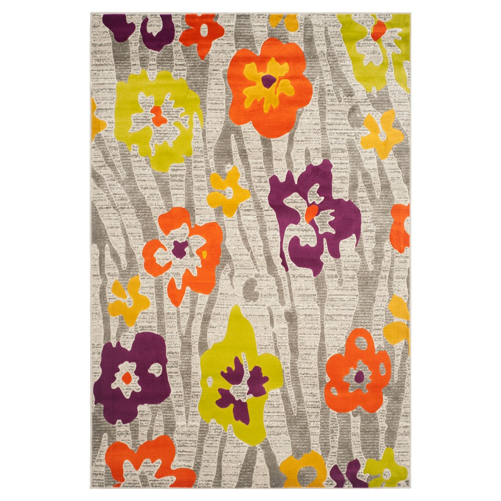 Seraphine Area Rug - Light Gray/Purple (4'1x6') - Safavieh, Light Gray/Orange/Yellow/Purple