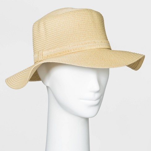 Women's Packable Essential Straw Boater Hat - A New Day™ One Size Natural - image 1 of 1