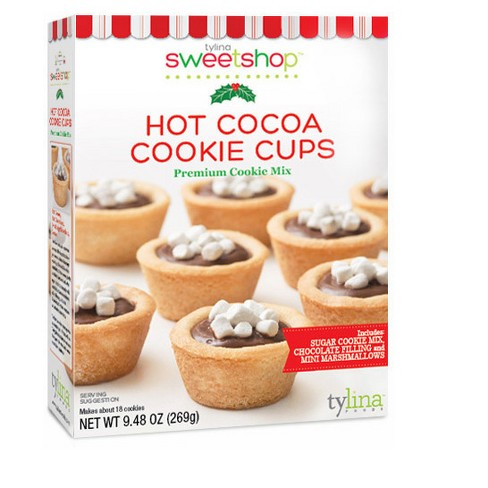 Holiday Hot Cocoa Cookie Cups Premium Cookie Mix - 11.5 oz - Tylina Sweetshop - image 1 of 1