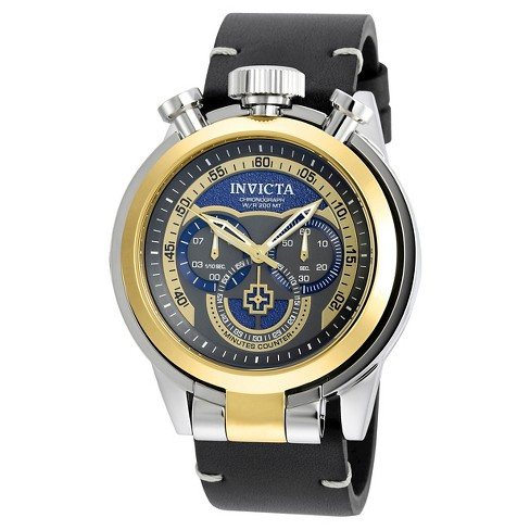Men's Invicta 18768 I-Force Quartz Multifunction Blue Dial Strap Watch - Black - image 1 of 1