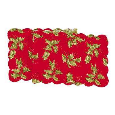 """C&F Home 14"""" x 51"""" Holly Red Table Runner Small"""