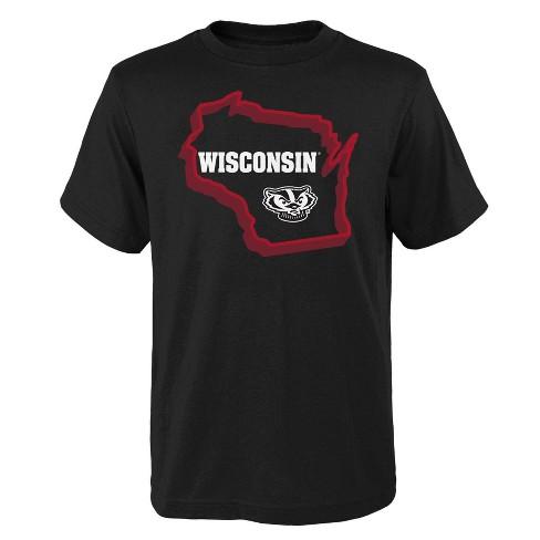 NCAA Wisconsin Badgers Boys' Short Sleeve Black Core T-Shirt - image 1 of 1