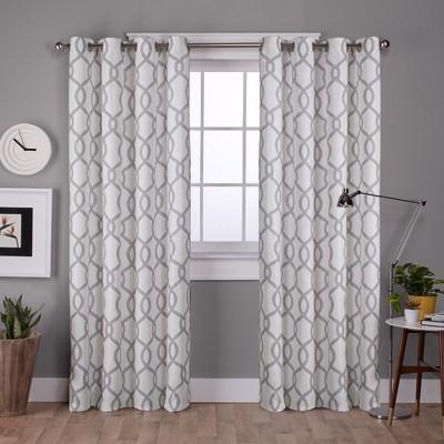 Kochi Linen Blend Grommet Top Window Curtain Panel Pair Dove Gray 54x63 - Exclusive Home