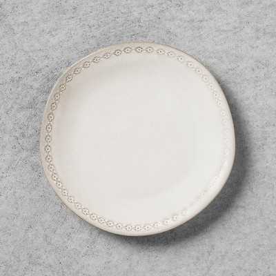 Appetizer Plate with Engraved Floral Border - White - Hearth & Hand™ with Magnolia