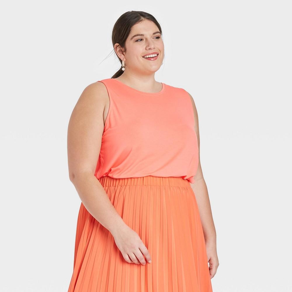 Women 39 S Plus Size Tank Top A New Day 8482 Peach 4x