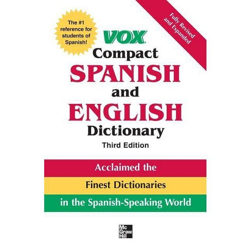 Vox Compact Spanish and English Dictionary - (Vox Dictionary) 3 Edition (Hardcover) - image 1 of 1
