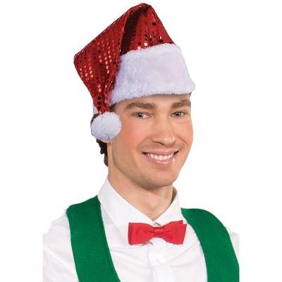 Forum Novelties Foil Dot Santa Hat (Red)