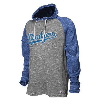 MLB Los Angeles Dodgers Men's Long Sleeve Raglan Henley Shirt