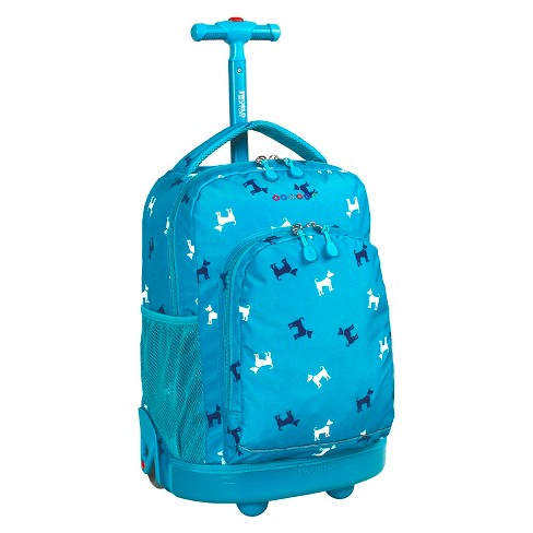 J World Sunny Rolling Backpack - Blue Puppy - image 1 of 7