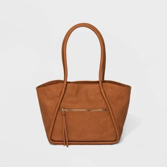 Oversized Winged Tote Handbag - Universal Thread™ Cognac