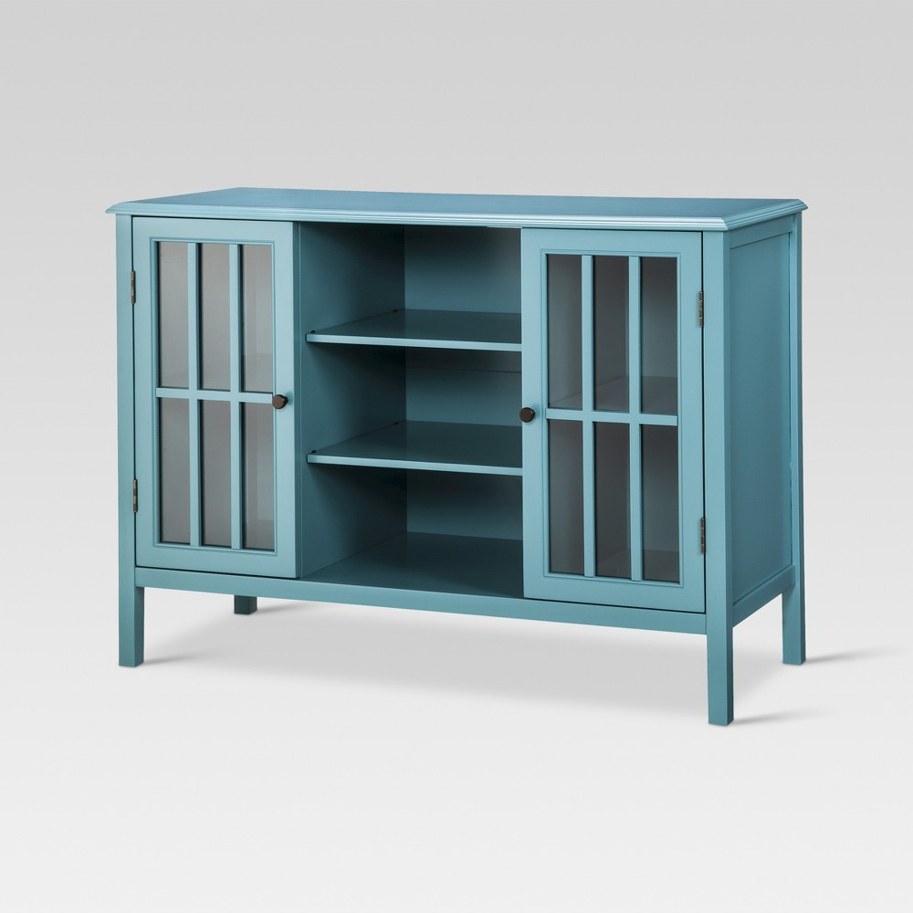 Windham 2 Door Cabinet with Storage Shelves Teal - Threshold Coupons