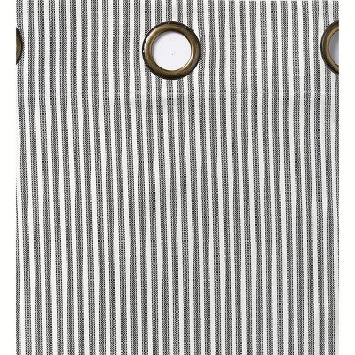 """Thermalogic Insulated Ticking Stripe Grommet Top Curtain Pair, 72""""L"""