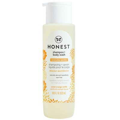 The Honest Company Everyday Gentle Shampoo & Body Wash Sweet Orange Vanilla - 18 fl oz